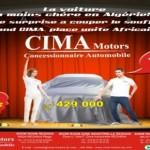 CIMA Motors Algérie: Une voiture à 429 000 DA au Salon automobile d'Alger 2012