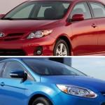 La voiture la plus vendue en 2012 : Ford Focus ou Toyota Corolla ?