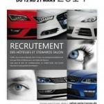 Sovac: Recrutement pour le Salon Automobile International 2014