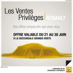 Renault: Les ventes Privilèges