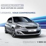 Peugeot 308 : Meilleure voiture de l'année 2014