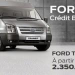 Ford Transit : Crédit fournisseur à 0%