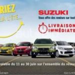 Suzuki : Une disponibilité immédiate et des remises jusqu'au 30 juin 2015